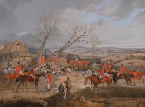 Art Prints of Hunting Scene, the Kill by Henry Thomas Alken