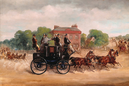 Art Prints of Drags of the Four in Hand Club by Henry Thomas Alken