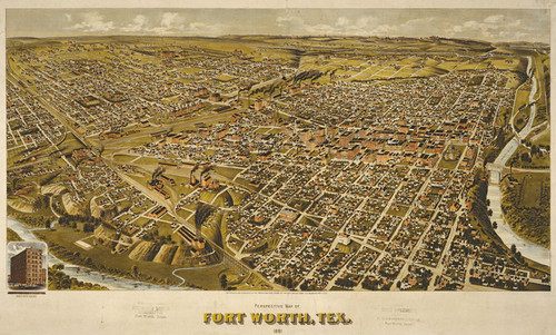 Art Prints of Fort Worth, Texas, 1891 by Henry Wellge