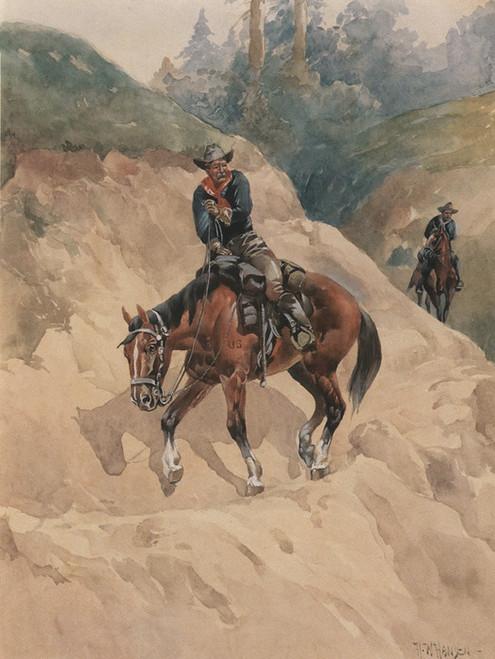 Art Prints of A Dangerous Trail by Herman Wendelborg Hansen