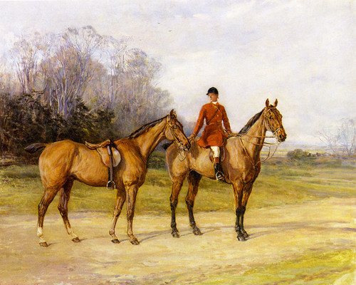 Art Prints of Holding the Master's Horse by Heywood Hardy