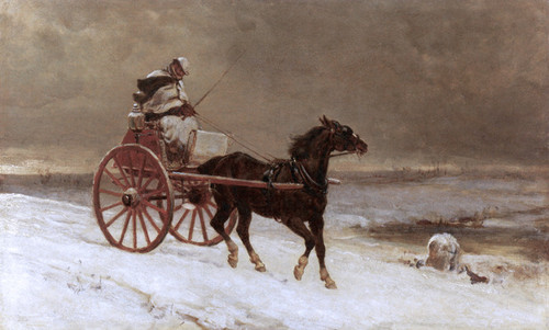 Art Prints of A Journey through the Snow by Heywood Hardy