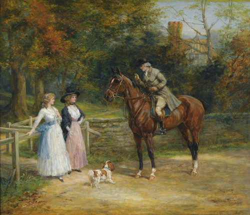 Art Prints of A Charming Encounter by Heywood Hardy