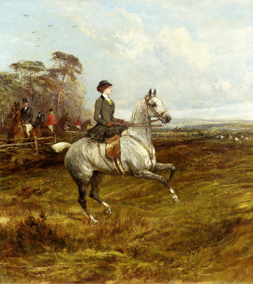 Art Prints of A Lady Out Hunting by Heywood Hardy