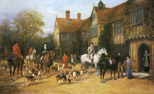 Art Prints of A Meet at the Manor by Heywood Hardy