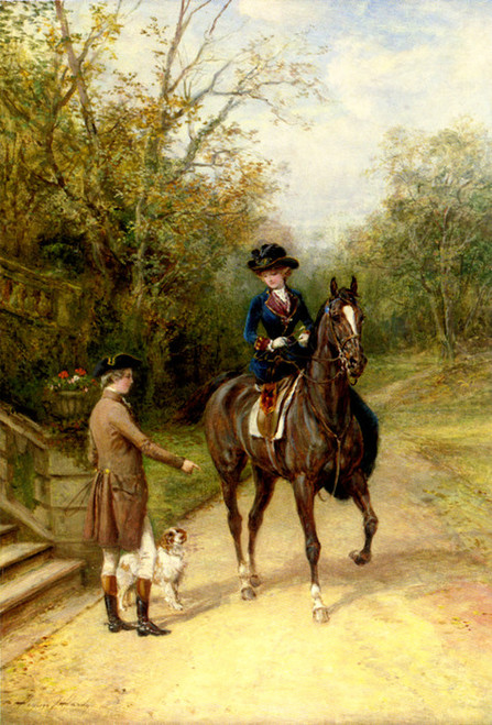 Art Prints of By the Gate by Heywood Hardy