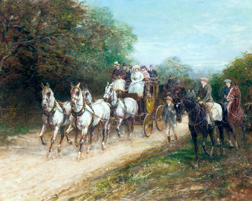Art Prints of A Well Matched Team, Coaching by Heywood Hardy