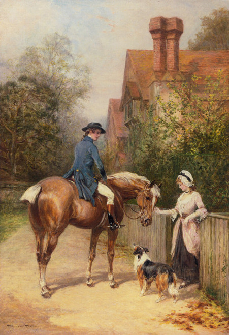 Art Prints of By the Gate, No. 2 by Heywood Hardy