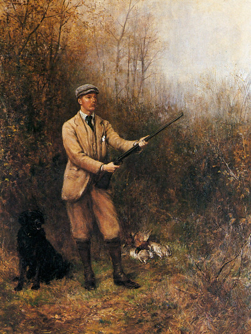 Art Prints of Out Shooting, 1890 by Heywood Hardy