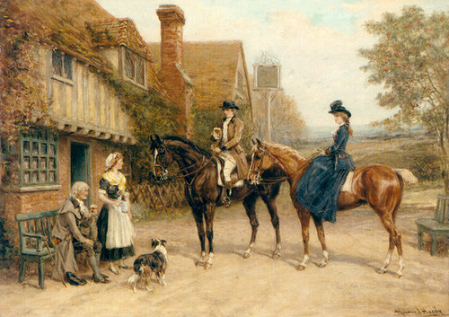 Art Prints of Outside the Inn by Heywood Hardy