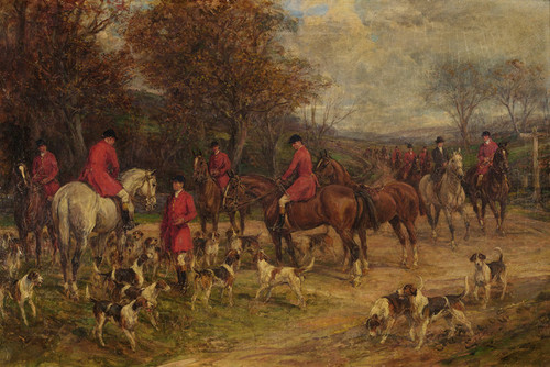 Art Prints of Return from the Hunt by Heywood Hardy