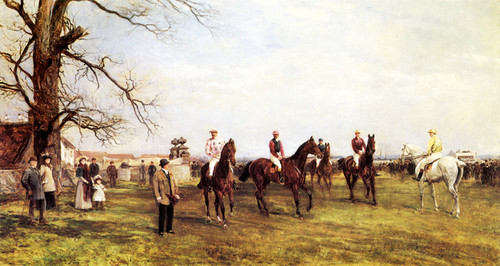 Art Prints of Start of the Catterick Steeplechase by Heywood Hardy