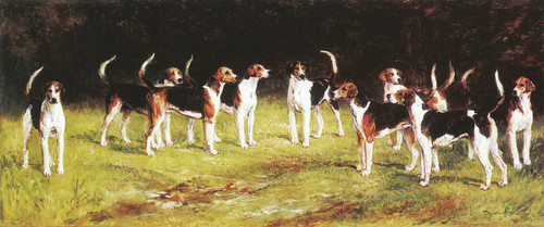 Art Prints of The Belvoir Hounds by Heywood Hardy