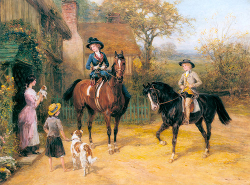 Art Prints of Visit to the Village by Heywood Hardy