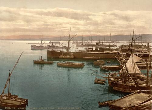 Art Prints of Harbor by Moonlight I, Algiers, Algeria (387063)