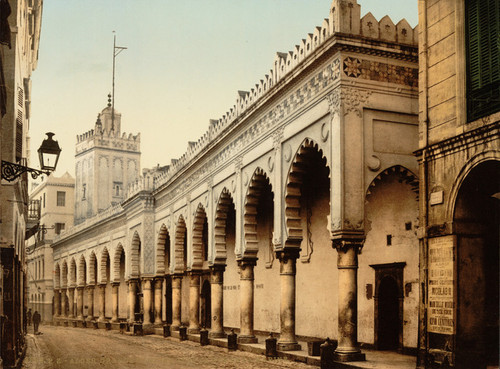 Art Prints of Great Mosque in the Marine Street, Algiers, Algeria (387074)