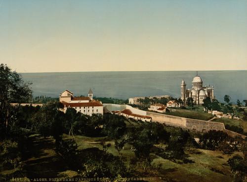 Art Prints of Notre Dame d'Afrique and Carmelite Convent, Algiers, Algeria (387080)