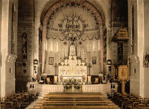 Art Prints of Interior of Notre Dame d'Afrique, Algiers, Algeria (387082)