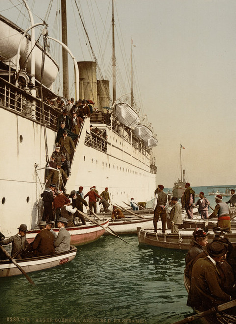 Art Prints of Disembarking from a Ship, Algiers, Algeria (387088)