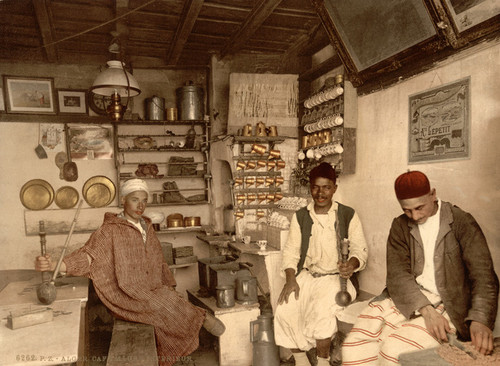 Art Prints of Moorish Coffee House, Algiers, Algeria (387095)