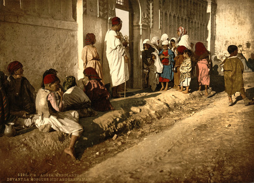Art Prints of Beggars in Front of Mosque Sidi Abderrhaman, Algiers, Algeria (387106)