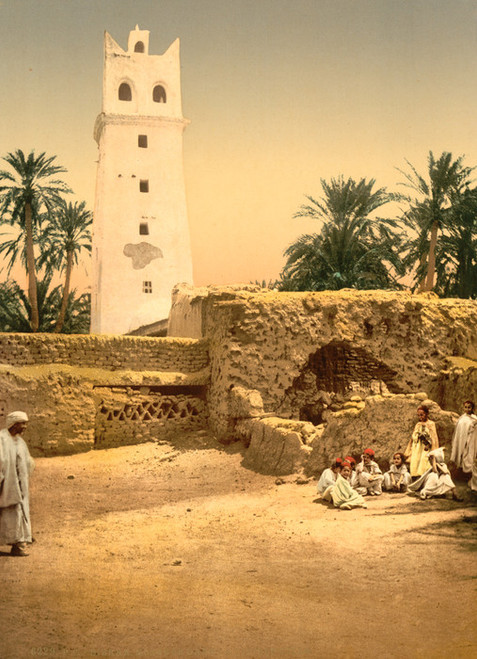 Art Prints of Mosque in the Old Town, Biskra, Algeria (387111)