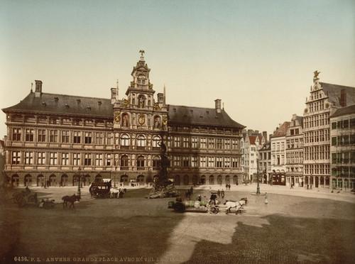 Art Prints of Grande Place with Town Hall, Antwerp, Belgium (387134)