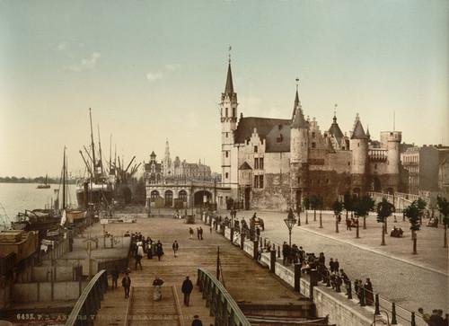 Art Prints of View of the Steen with the Port, Antwerp, Belgium (387138)