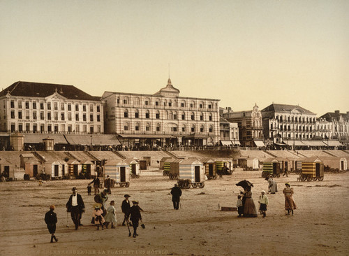 Art Prints of The Beach and Hotels, Blankenberghe, Belgium (387142)