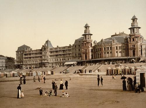 Art Prints of The Beach and Kursaal or Cursaal, Blankenberghe, Belgium (387143)