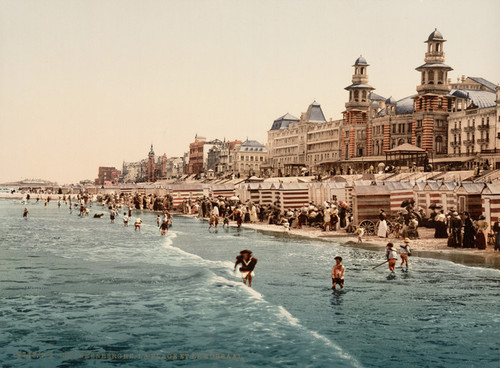 Art Prints of The Beach and Kursaal or Cursaal, Blankenberghe, Belgium (387144)