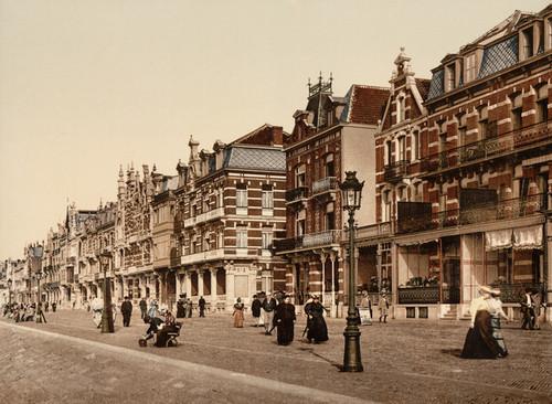 Art Prints of The Beach and Villas, Blankenberghe, Belgium (387145)