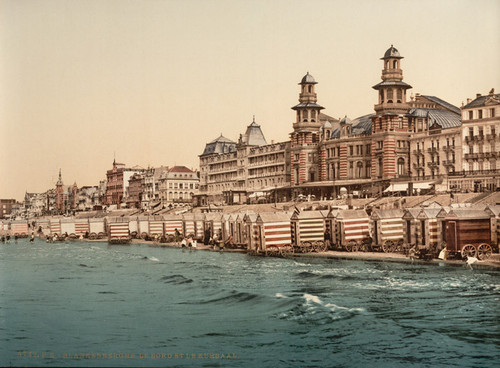 Art Prints of The Seashore and Kursaal or Cursaal, Blankenberghe, Belgium (387151)