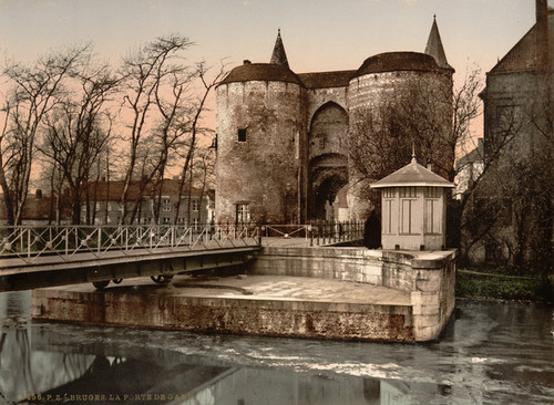 Art Prints of Ghent Gate, Bruges, Belgium (387156)