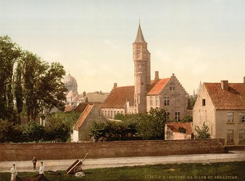Art Prints of The Guild of St. Sebastian, Bruges, Belgium (387162)