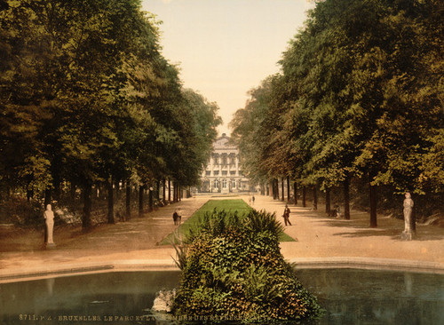 Art Prints of Park and Chamber of Representatives, Brussels, Belgium (387166)