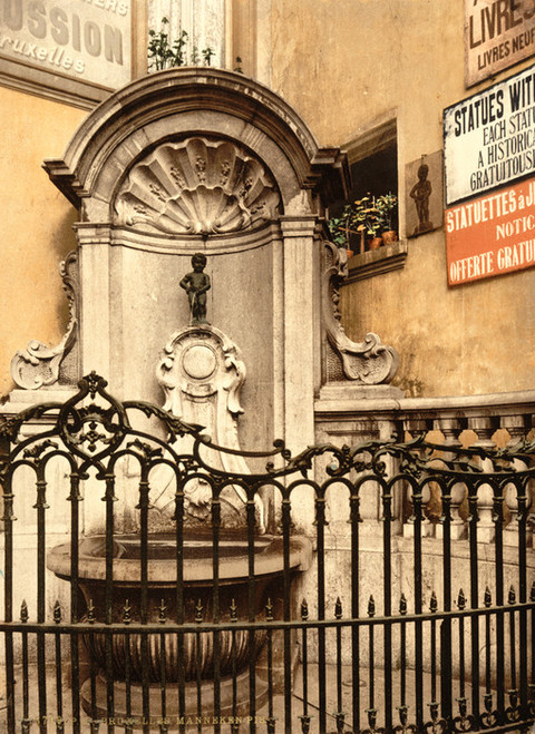 Art Prints of Manneken Pis, Brussels, Belgium (387178)