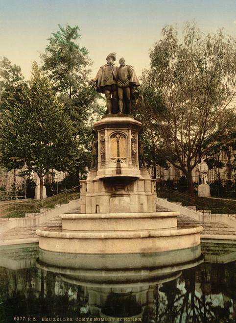 Art Prints of Count Egmont and Horen or Hoorn Monument, Brussels, Belgium (387177)