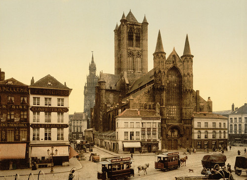 Art Prints of St. Nicolas Church, Ghent, Belgium (387193)