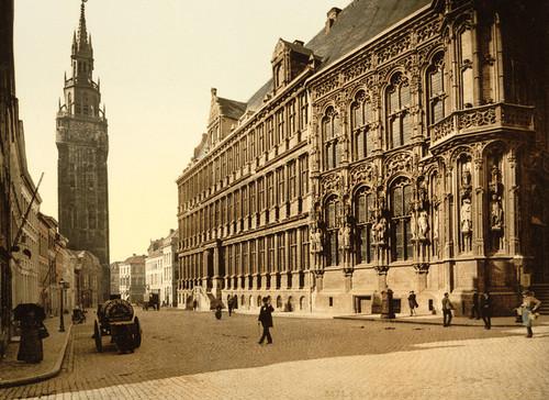 Art Prints of The Belfry and Hotel de Ville, Ghent, Belgium (387194)