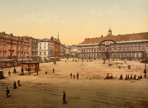 Art Prints of St. Lambert Place, Liege, Belgium (387206)