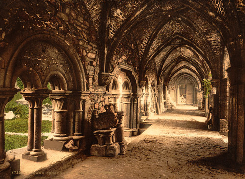 Art Prints of St. Bavon Abbey, the Cloister, Ghent, Belgium (387198)