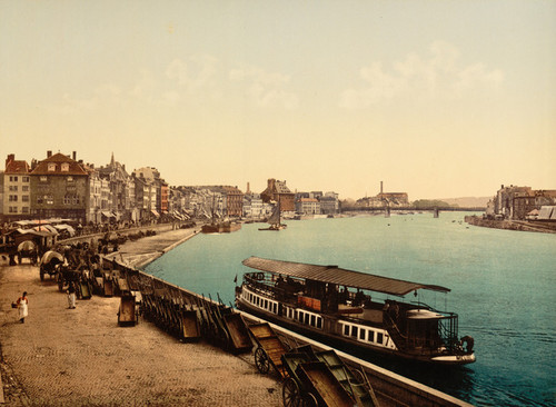 Art Prints of The Quay, Liege, Belgium (387207)