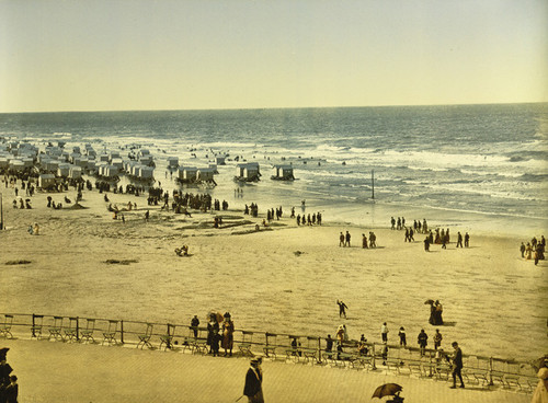 Art Prints of The Beach from the Kursaal or Cursaal, Ostend, Belgium (387216)