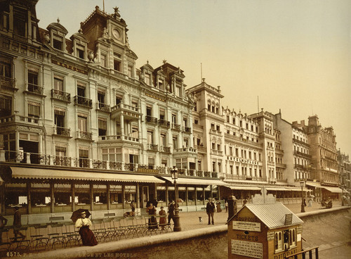 Art Prints of The Beach and Hotels, Ostend, Belgium (387215)