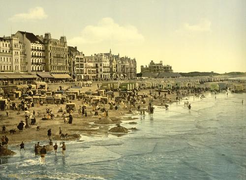 Art Prints of The Beach at High Water, Ostend, Belgium (387218)