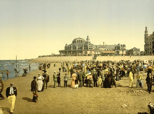 Art Prints of The Beach and the Kursaal or Cursaal, Ostend, Belgium (387217)