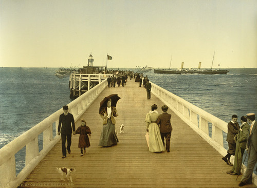 Art Prints of Pier, Ostend, Belgium (387231)