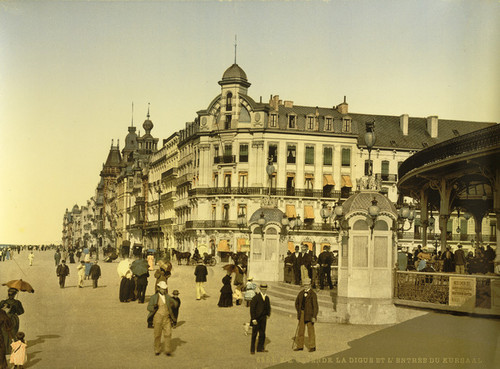 Art Prints of The Embankment and Entrance to the Kursaal, Ostend, Belgium (387229)