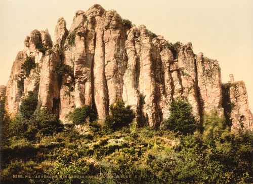 Art Prints of The Basaltic Rocks at Bort, Auvergne Mountains, France (386976)